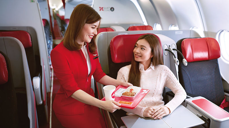 Air Asia Planning Airline Fast-Food Restaurant