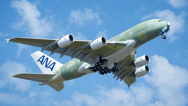 ANA First A380 Takes To The Skies