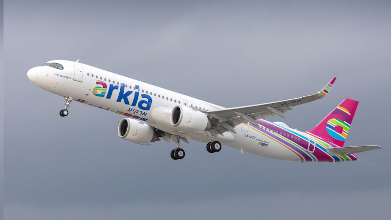 Arkia Receives The First Long Range Airbus A321LR