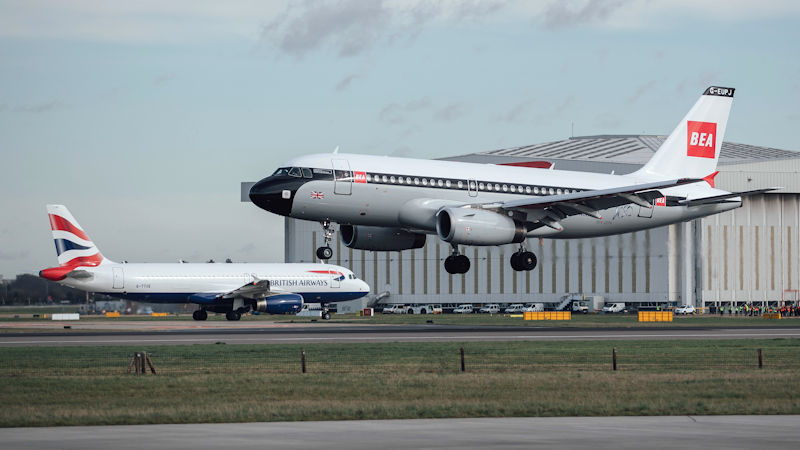 British Airways Shows Off Centenary Paint Job