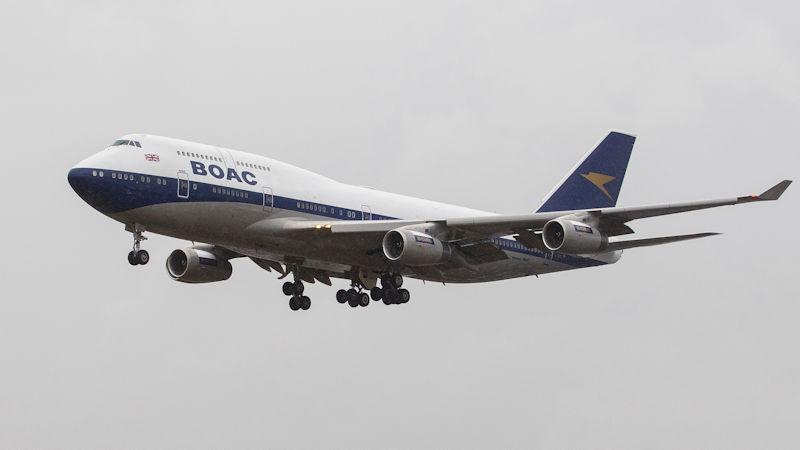 British Airways Heritage 747 With BOAC Livery
