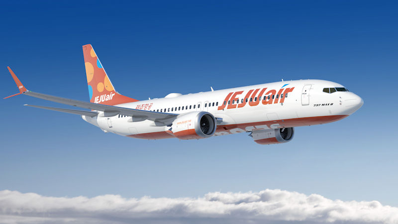 Jeju Air Orders 40 Boeing 737 MAX 8s