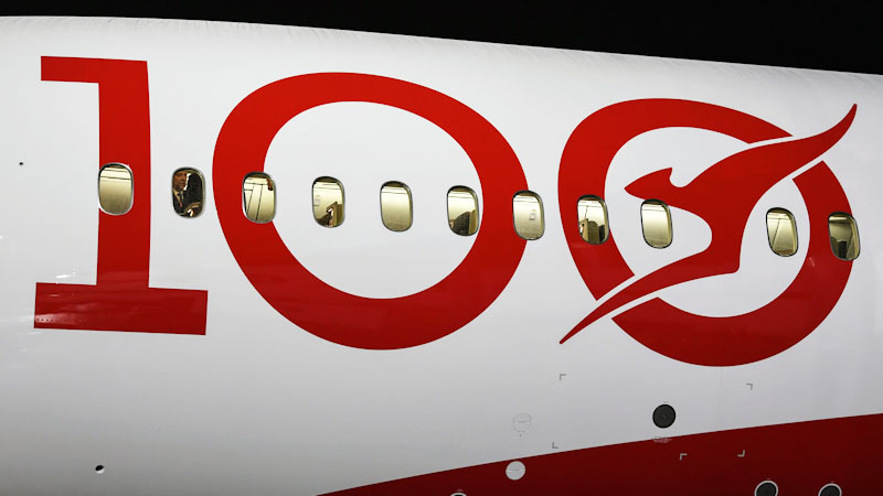 Qantas 100th year logo