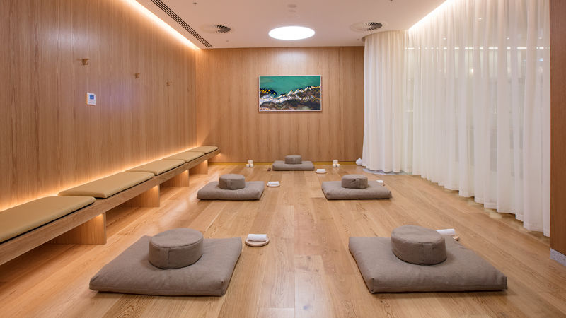 Qantas Perth Transit Lounge Exercise Studio