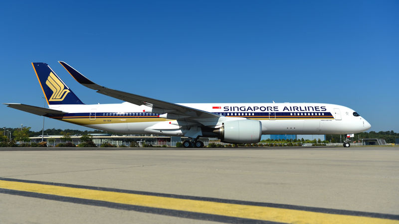 Singapore Air Receives First Ultra Long Range A350
