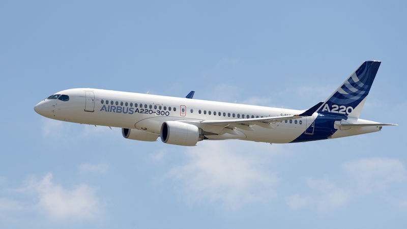 Airbus Increases A220 Take-Off Weight, Range