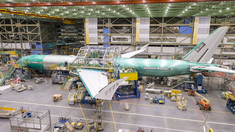 Boeing Joins 777X Flight Test Fuselage