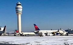 Snow, Ice Cause Southeast US Flight Cancellations