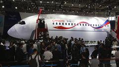 China, Russia JV Jet Mockup On Airshow Display