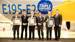 Embraer E195-E2 Receives Triple Type Certification